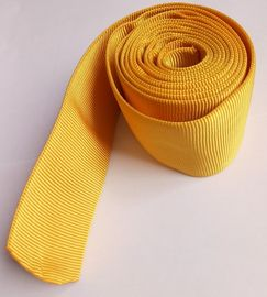 CE Woven Polyester Hollow Webbing , Yellow Webbing For Hydraulic Pipes